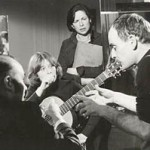 Cheryl recording with Julian Bream in Paris.