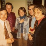 Cheryl with Graham Wade, John Mills, John Zaradin and Peter Sensier - Guitar Summer School, England.